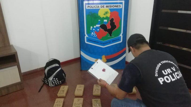 Secuestran más de 9 kg marihuana en Iguazú: un narco prófugo