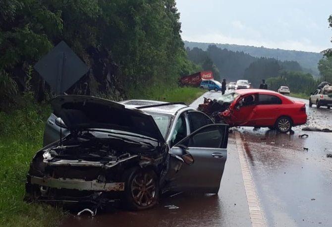 Triple colisión en la ruta 14 dejó como saldo cinco personas lesionadas