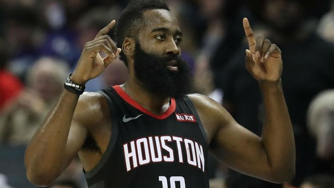 Harden aportó 9 triples en la victoria de Houston Rockets