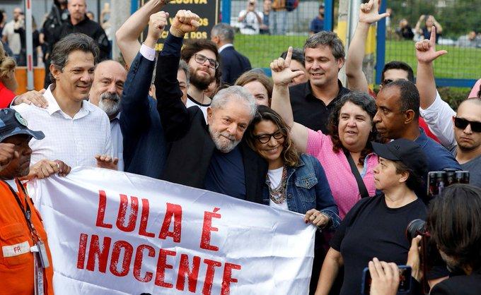 Lula salió de la cárcel luego de 580 días