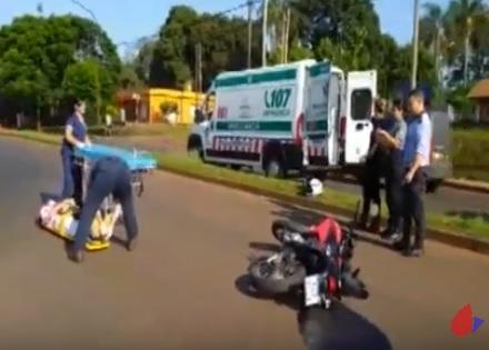 Motociclista chocó a un perro en av. Santa Cruz