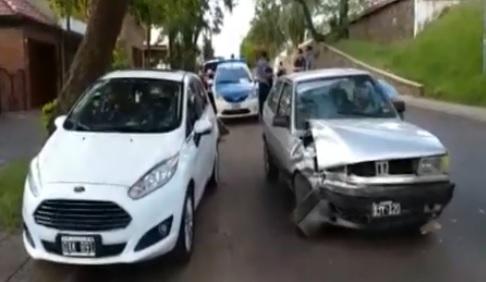 Choque en avenidas Corrientes y Alem