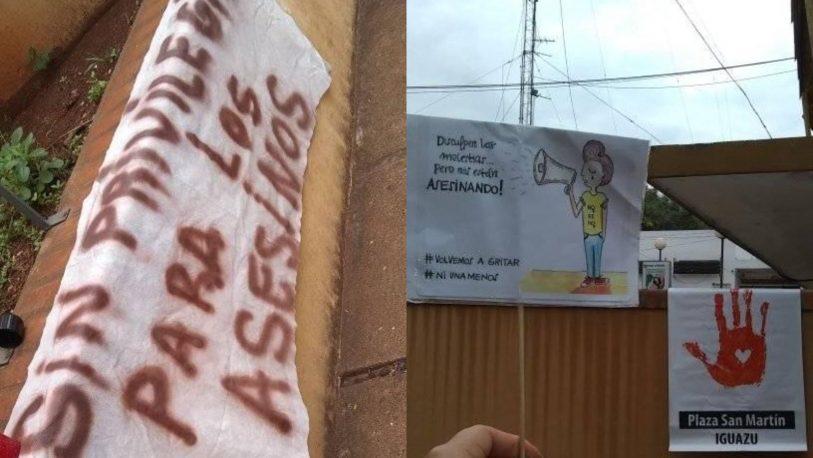 Iguazú: marcharon en rechazo por la presencia del asesino de María Belén