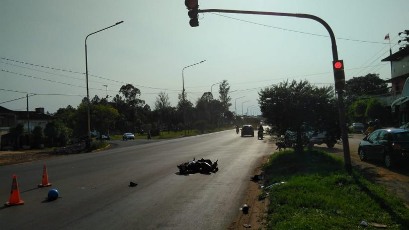 Motociclista falleció tras ser embestido por un vehículo