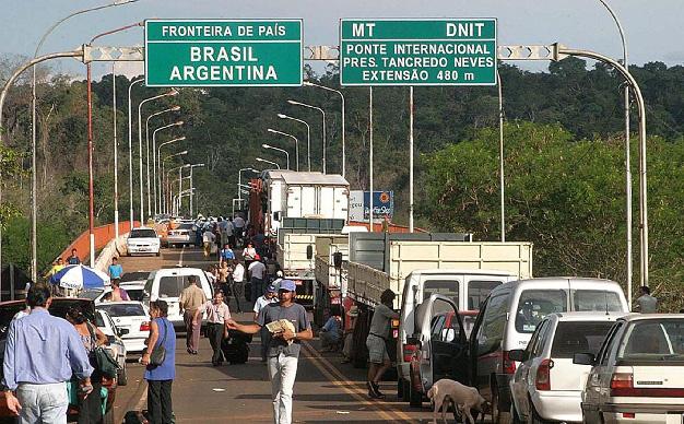 Poco movimiento en el paso fronterizo Iguazú-Foz