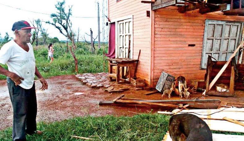 Candelaria fue la localidad del sur más afectada por la tormenta