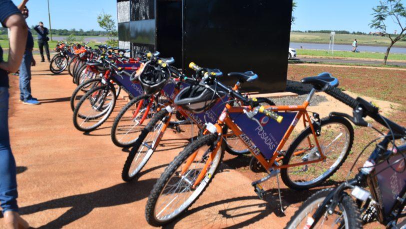 Nueva estación de eco bicis en costanera oeste