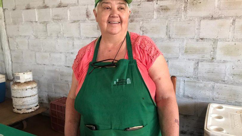 Carne de cerdo a pedido en la feria Santa Rita