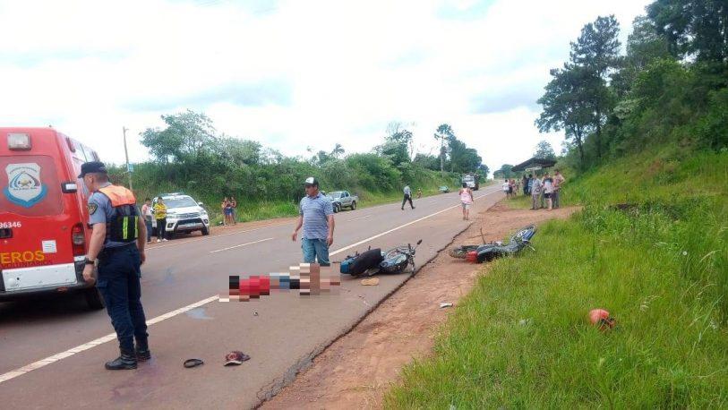 Salto Encantado: heridos graves en choque de motos