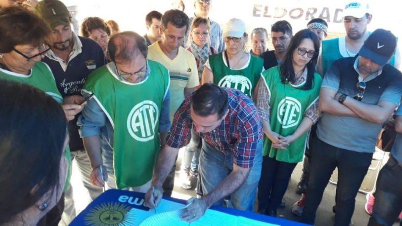 ATE y CTA celebraron el pase de 500 promotores al Régimen de Salud