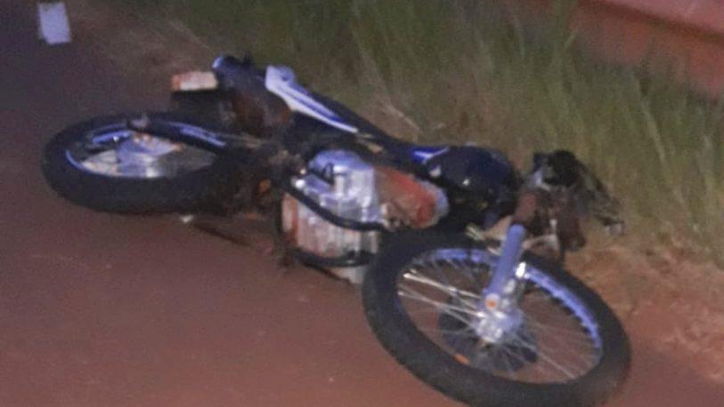 Pareja en moto falleció al chocar con un micro en Ruta 14