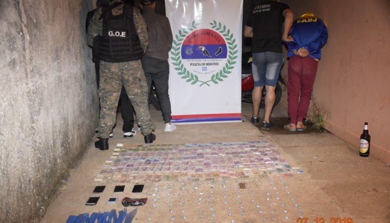 """Desmantelaron un """"kiosco"""" narco y detuvieron a cuatro personas"""