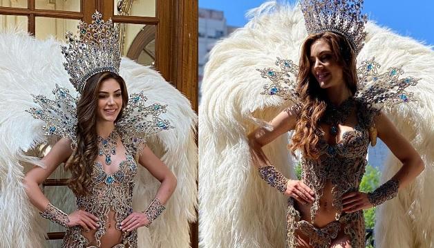 El traje de Miss Argentina está inspirado en las Cataratas