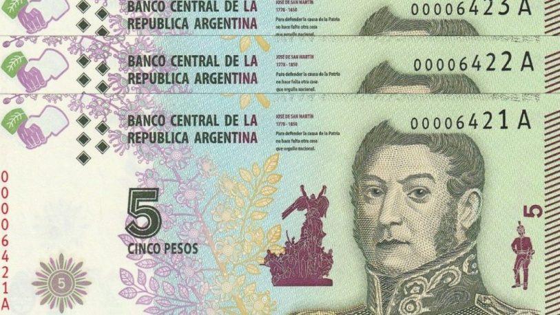 Se extiende el plazo de circulación de los billetes de $5