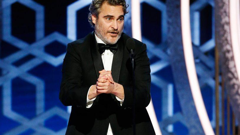 Fuerte discurso de Joaquín Phoenix en los Globo de Oro por el cambio climático