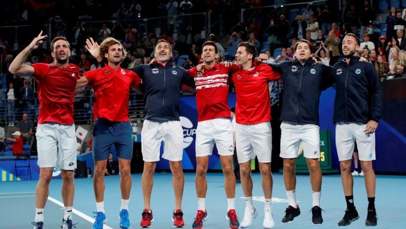 Serbia campeona de la primera ATP Cup