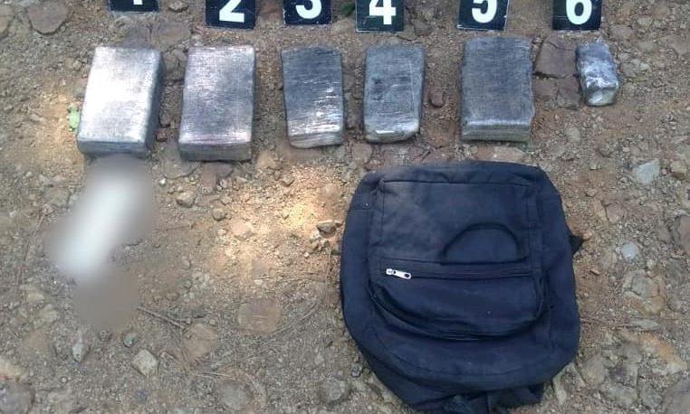 Encuentran una mochila con más de 3 kilos de marihuana