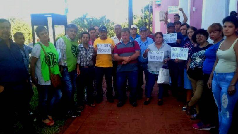 """Acción gremial de ATE en San Javier: """"No somos ñoquis"""""""