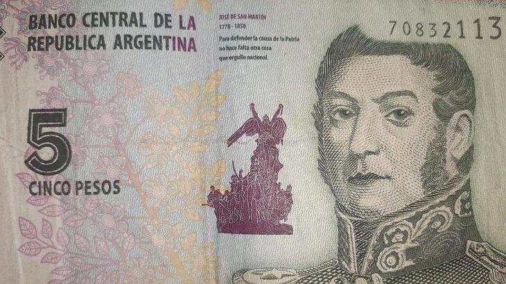 Sale de circulación el billete de $5