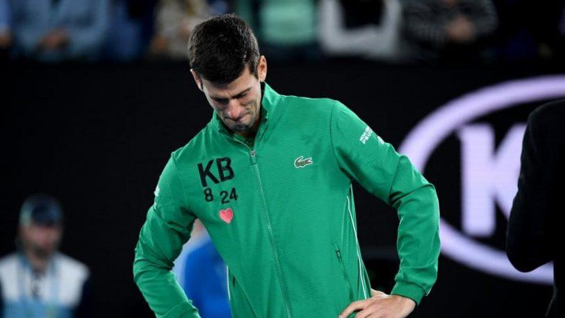 Djokovic se quebró en la cancha al recordar a Kobe Bryant