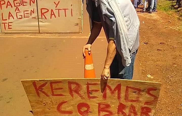 Obreros volvieron a cortar el acceso al aeropuerto de Iguazú