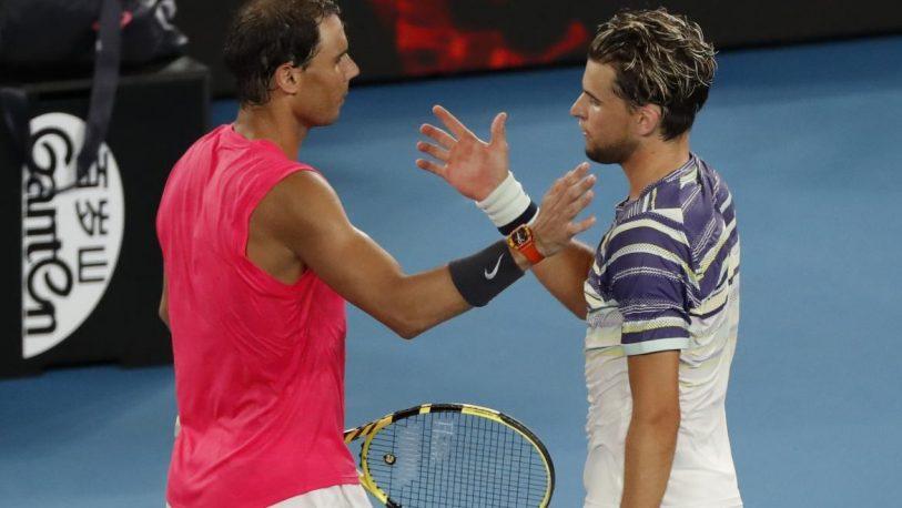 Rafael Nadal cayó con  Thiem y se despidió del Abierto de Australia