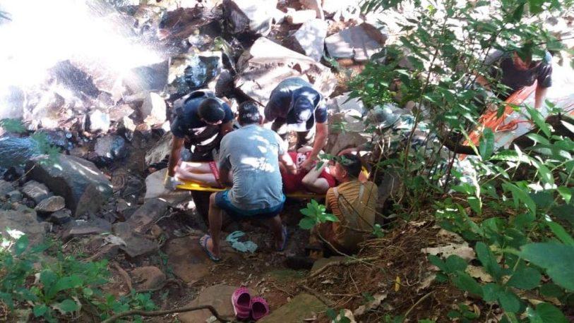 Otra turista cayó al salto mariposa de Iguazú