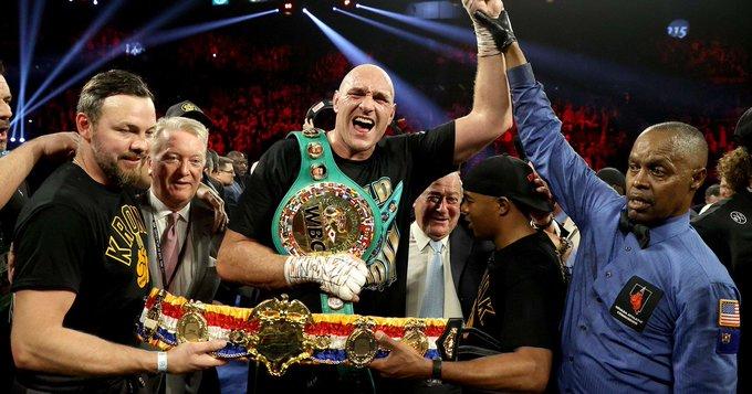 Fury le arrebata a Wilder la corona de peso pesado CMB