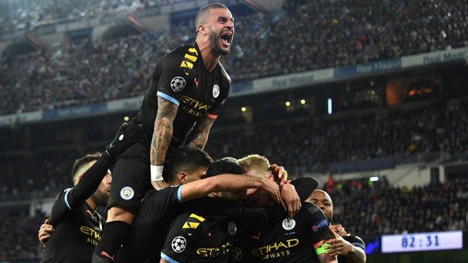 El Manchester City dio vuelta el partido y le ganó al Real Madrid por los octavos de la #ChampionsLeague
