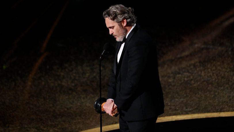 Premios Oscar 2020: la emoción de Joaquín Phoenix al recordar a su hermano River