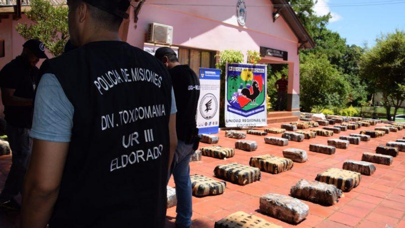 Montecarlo: la droga secuestrada superó las cinco toneladas