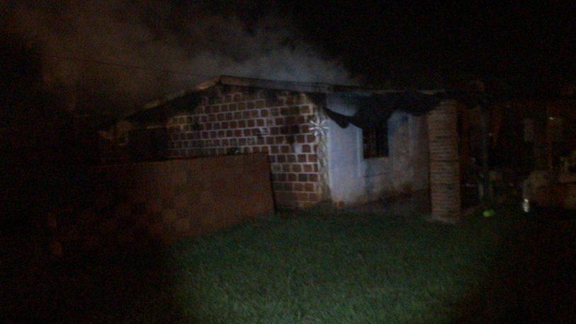 Incendió la casa de su ex pareja y terminó detenido