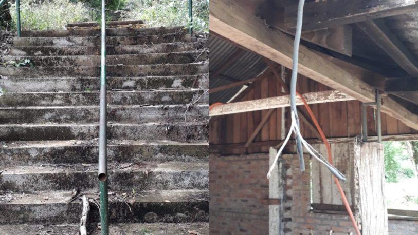 San Javier: indignación por el estado de abandono de Cerro Monje