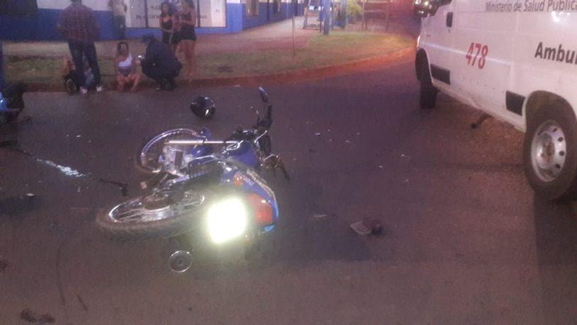 Choque de motos dejó varios lesionados en Posadas