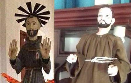 Paraguay: roban santo de una capilla y dejan réplica en reemplazo