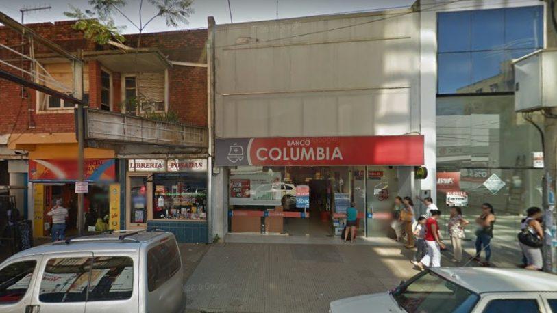 Se activó el protocolo del Covid-19, en Banco Columbia de Posadas