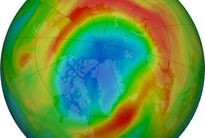 Inusual agujero en la capa de ozono sobre el Polo Norte