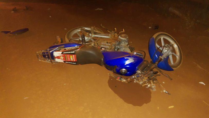 Motociclista despistó en Jardín América y está grave