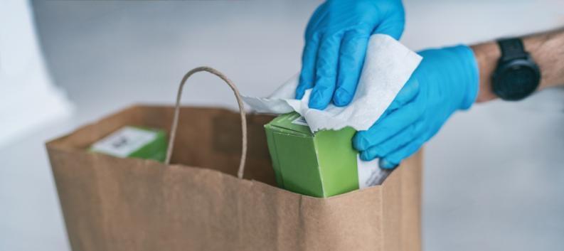 Cómo desinfectar las compras que hacemos durante la cuarentena