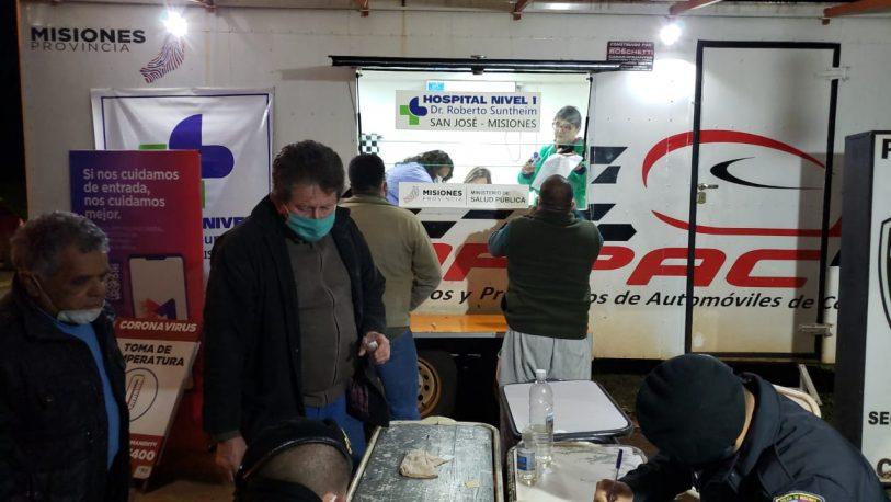Realizan controles sanitarios a camioneros y a quienes ingresan a la provincia