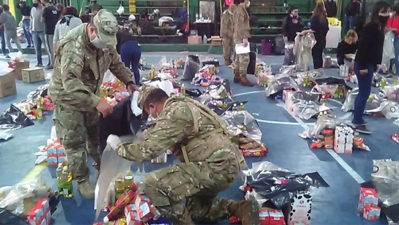 El Ejército colabora con asistencia alimentaria a la comunidad