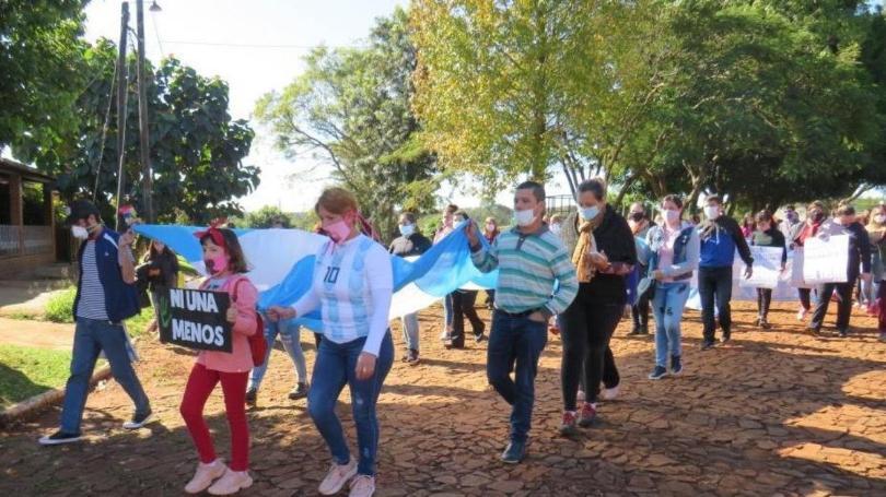 Puerto Libertad: Marcharon para pedir justicia por una chica que fue abusada