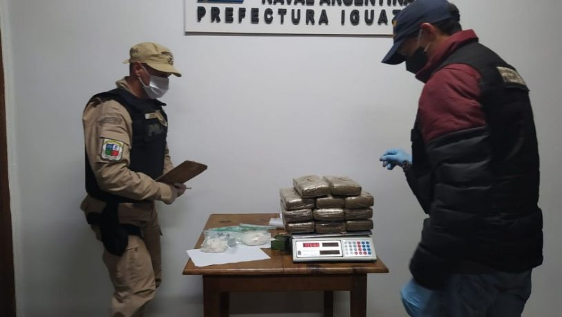 Iguazú: Prefectura secuestró marihuana y cocaína