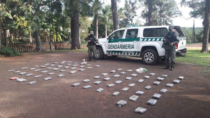 Secuestraron marihuana valuada en más de 10.000.000 de pesos