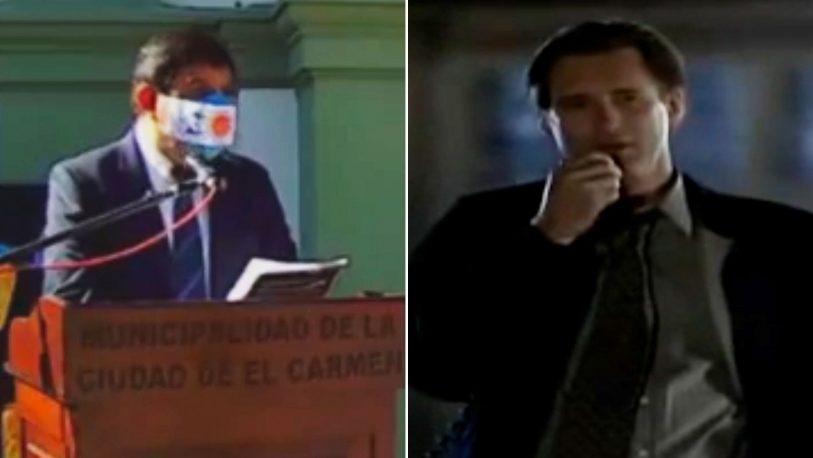 Intendente usó un discurso para el 9 de julio de una clásica película