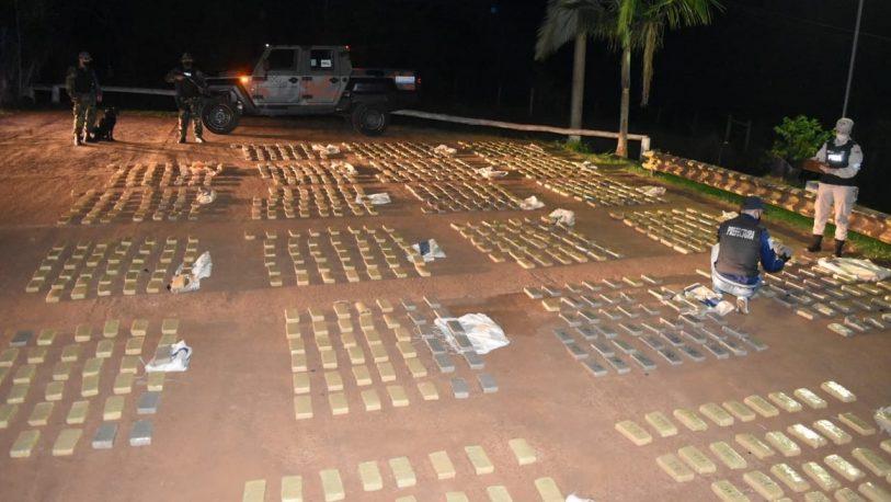 Secuestraron más de 2 toneladas de marihuana en el norte de Misiones