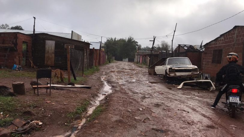 La Chacra 189, una de las más afectadas por el temporal
