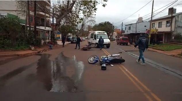 Dos motociclistas heridos en siniestro vial
