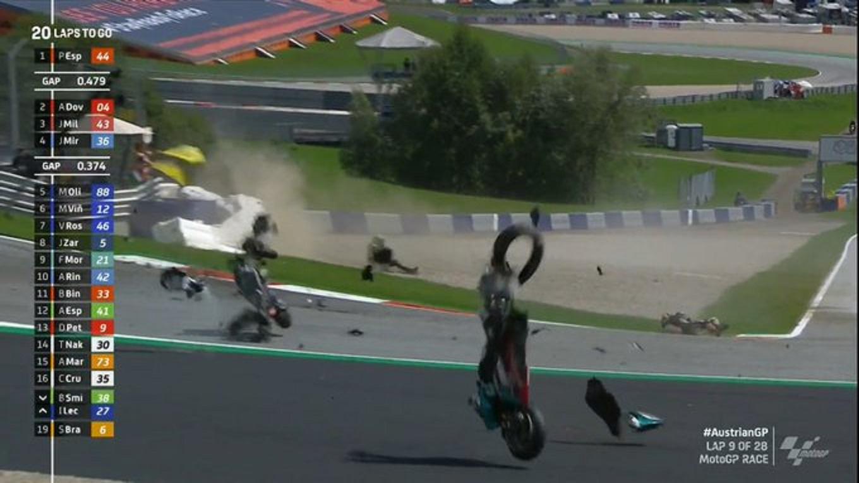 Escalofriante accidente en el Moto GP