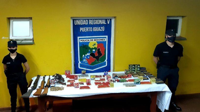 Incautaron armas y un centenar de municiones en Andresito